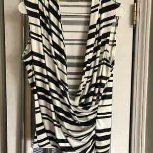 New York & co cowl front blouse size large